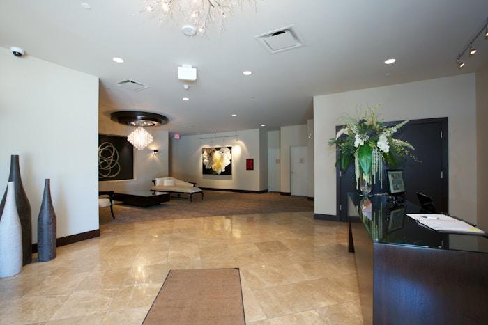 The lobby of The Madison Kelowna